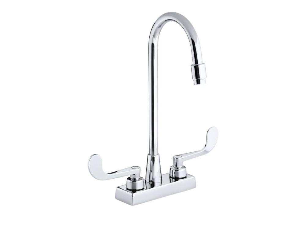 Triton Centreset Bathroom Faucet in Polished Chrome Finish