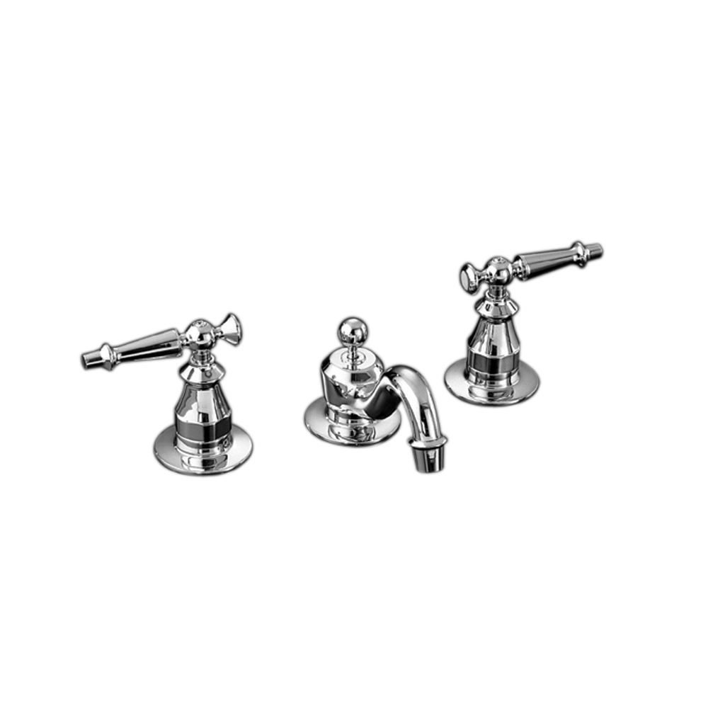 Antique Widespread Bathroom Faucet in Polished Chrome Finish