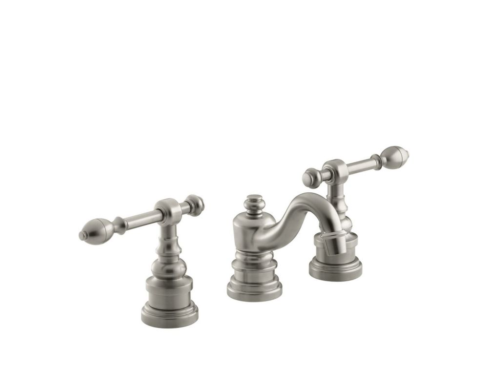 KOHLER IV Georges Brass Widespread Bathroom Faucet with Lever Handles in Vibrant Brushed Nickel