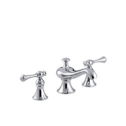 KOHLER Revival(R) widespread bathroom sink faucet with traditional lever handles