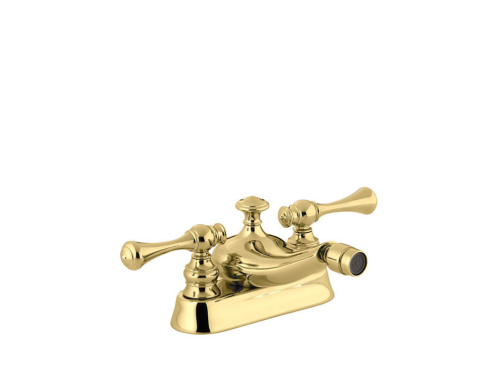 Revival Centerset Bidet Faucet in Vibrant Polished Brass Finish