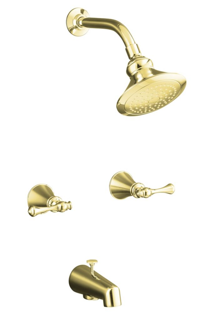 Revival Bath/Shower Faucet in Vibrant Polished Brass