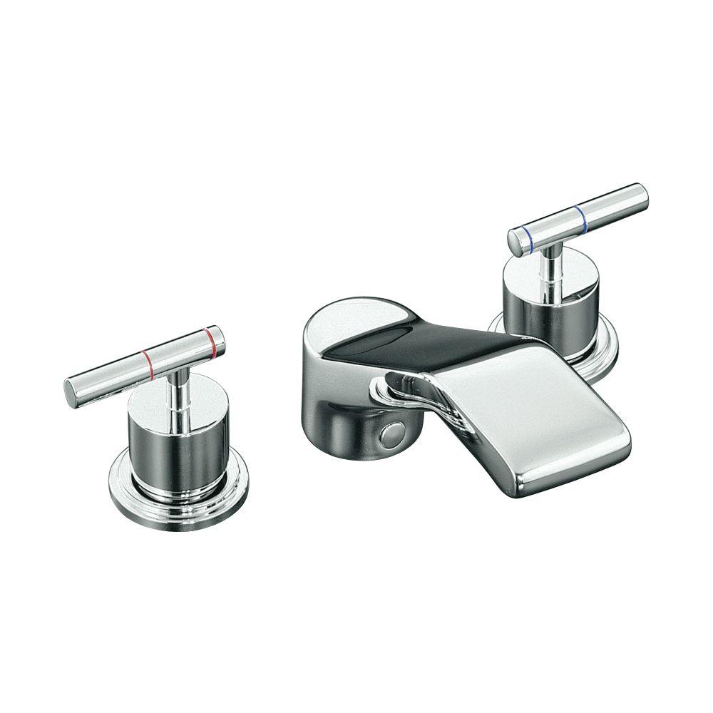 Garniture de robinet de baignoire haut-débit Revival à montage sur baignoire avec poignées à levi...