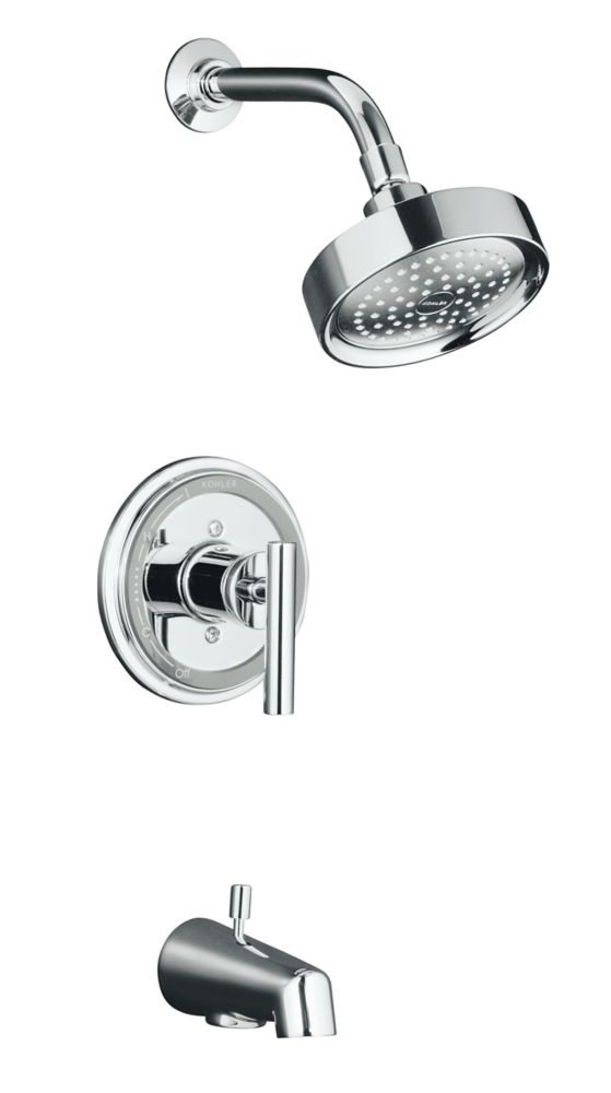 Taboret Rite-Temp Pressure-Balancing Bath/Shower Faucet in Polished Chrome