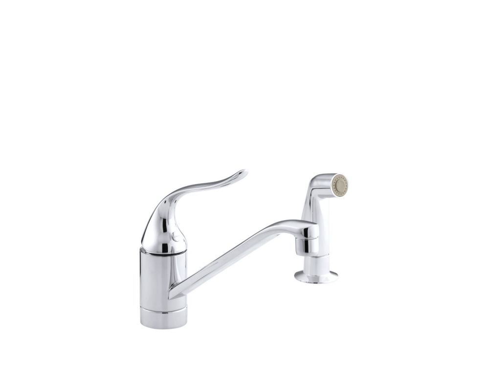 control kitchen sink faucet in polished chrome the home depot canada