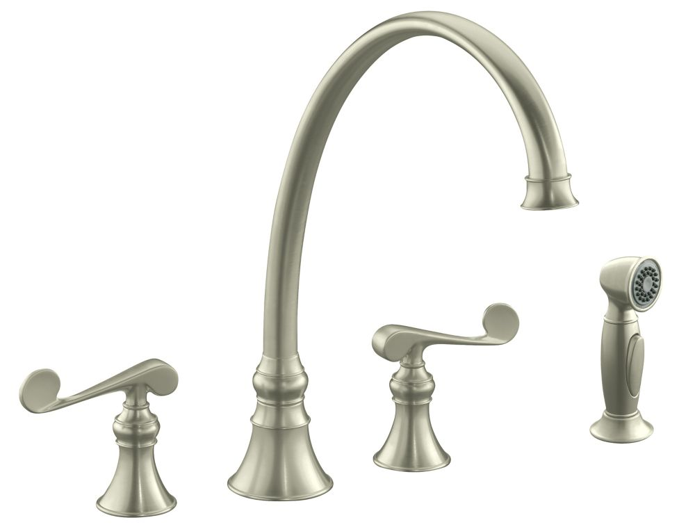 Revival Kitchen Sink Faucet In Vibrant Brushed Nickel
