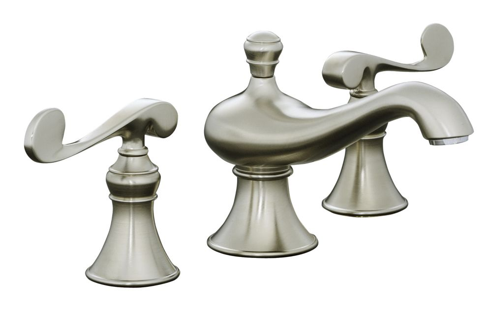 Revival Widespread Bathroom Faucet in Vibrant Brushed Nickel Finish