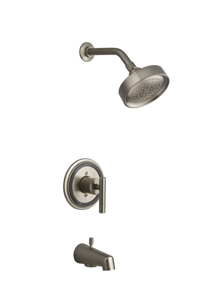 Taboret Rite-Temp Pressure-Balancing Bath/Shower Faucet in Vibrant Brushed Nickel