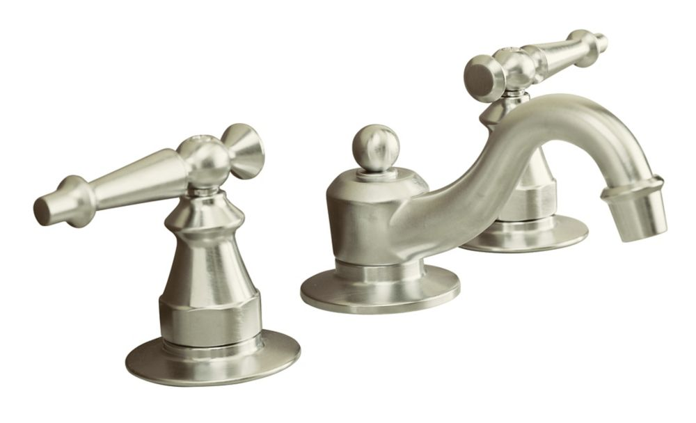 Robinets de lavabo à large entraxe Antique avec poignées à levier