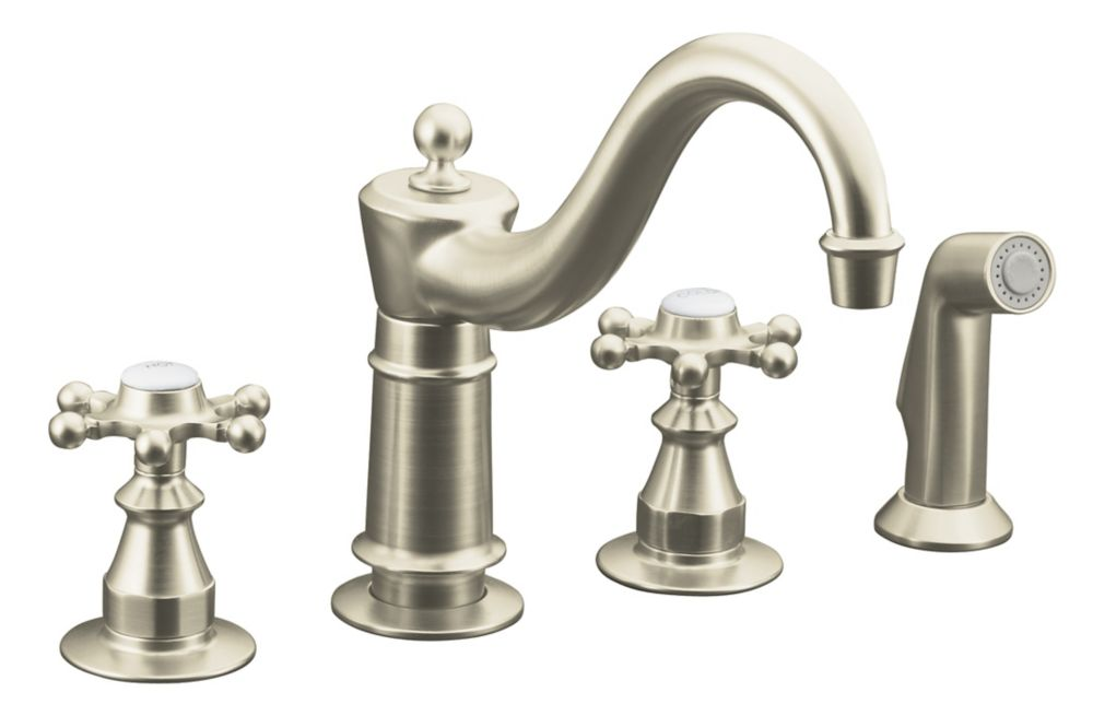 kitchen sink faucet in vibrant brushed nickel the home depot canada