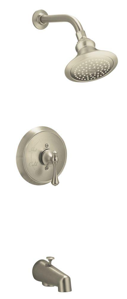 Revival Rite-Temp Pressure-Balancing Bath/Shower Faucet in Vibrant Brushed Nickel