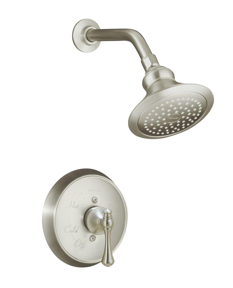 Revival Rite-Temp Pressure-Balancing Shower Faucet in Vibrant Brushed Nickel