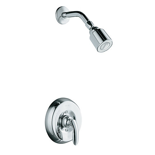Coralais Mixing Valve Shower Faucet in Polished Chrome
