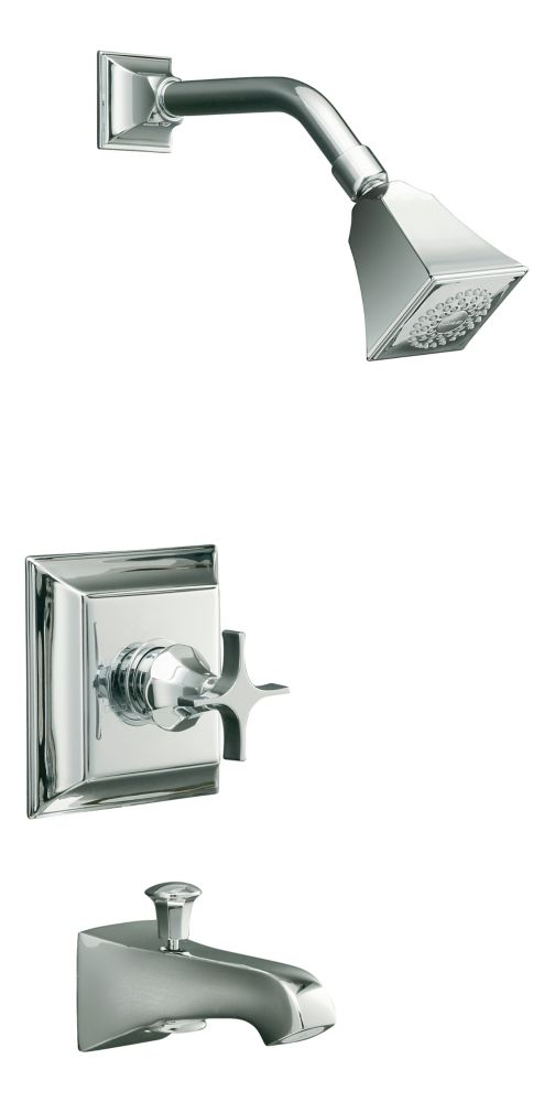 Memoirs Rite-Temp Pressure-Balancing Bath/Shower Faucet with Stately Design in Polished Chrome