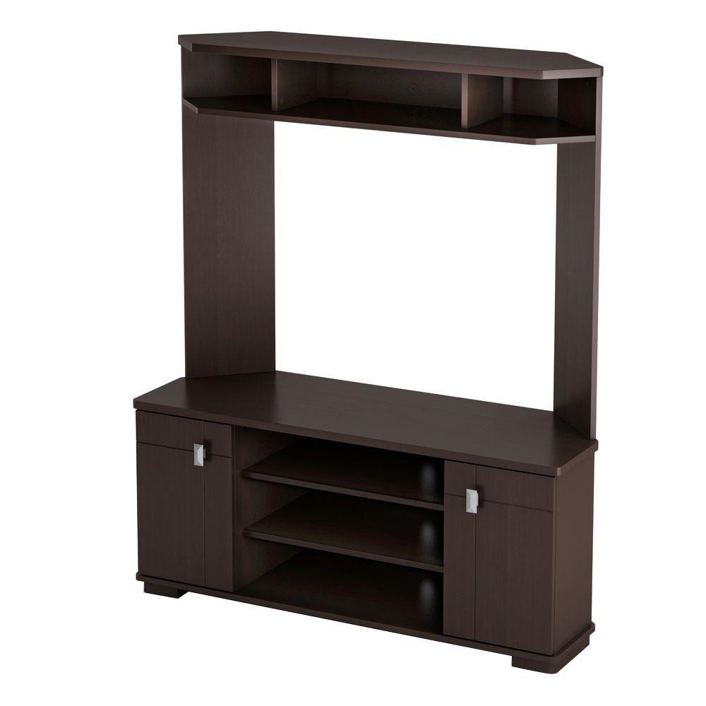 Vertex, Corner TV Stand, Chocolate
