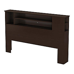 Bel Air, Full/Queen Bookcase Headboard, Chocolate