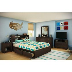South Shore Bel Air, Queen Mates Bed Box, Chocolate