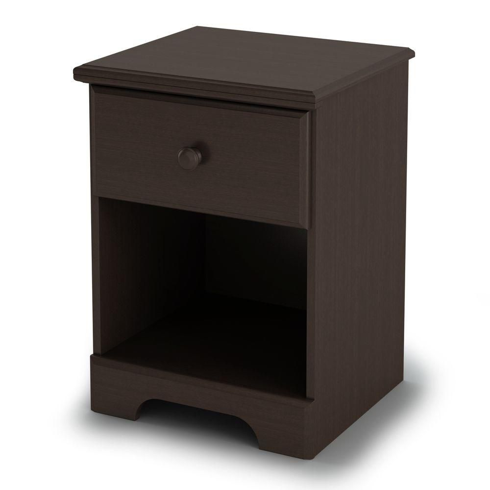 Summer Breeze 1-Drawer Nightstand, Chocolate
