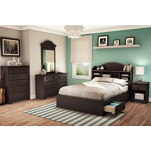 Brownie 54-inch Full Mated Bed in Chocolate