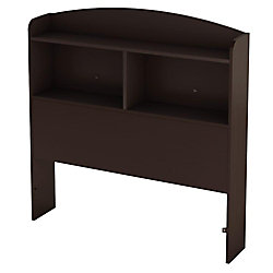 Logik Twin 39-inch Bookcase Headboard, Chocolate