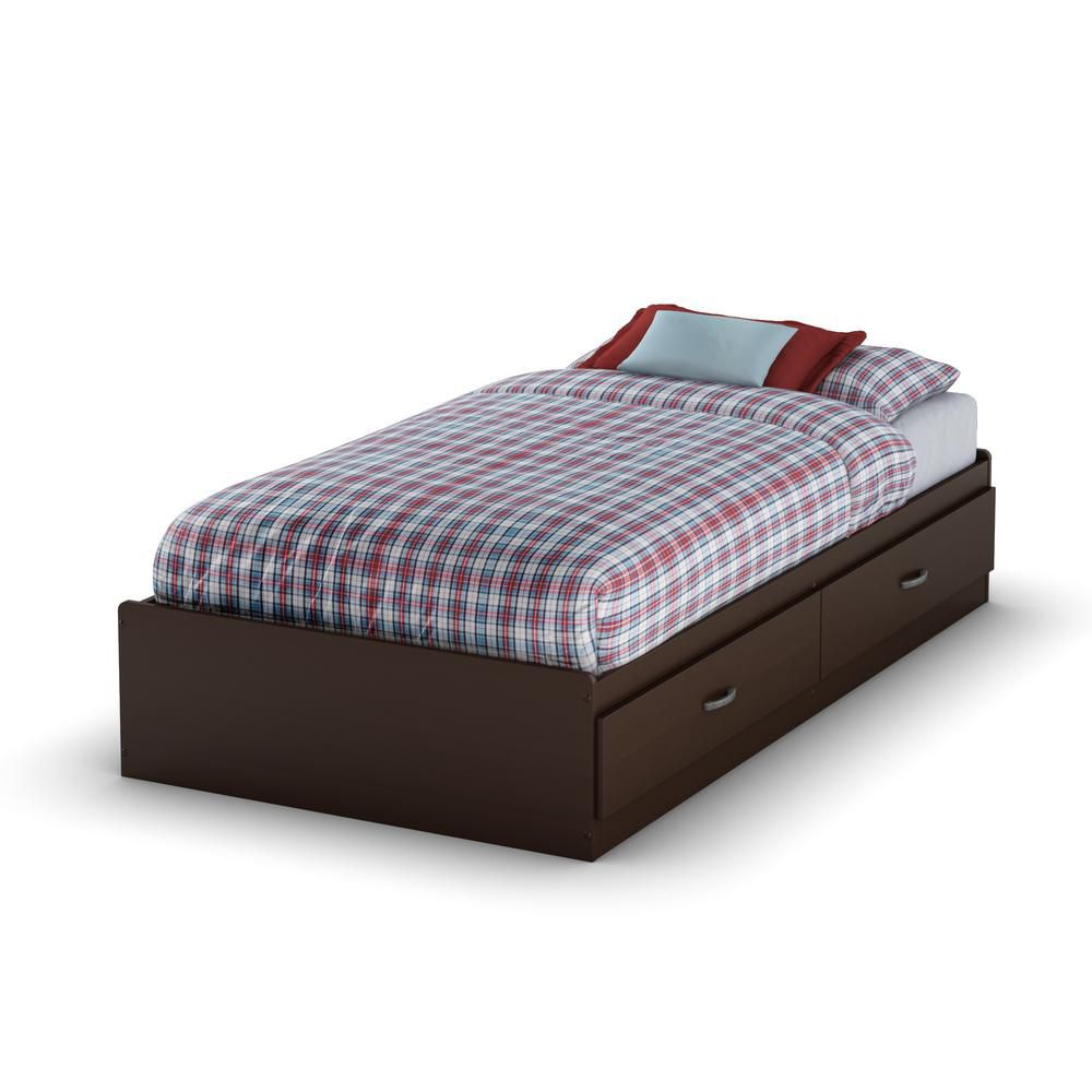 Logik Twin 39 Inch Mates Bed, Chocolate