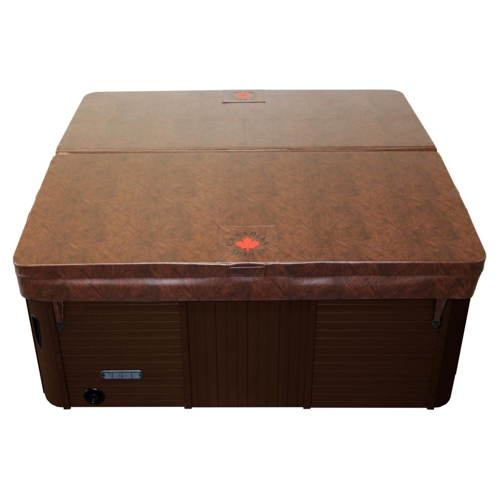 5-inches to 3-inches Tapered Spa Cover in Brown (82 inches x 82 inches x 4 inches Radius)