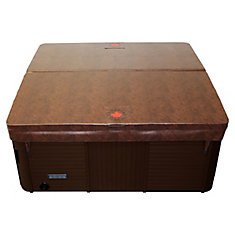 86-inch x 86-inch Square Hot Tub Cover with 5-inch/3-inch Taper in Chestnut