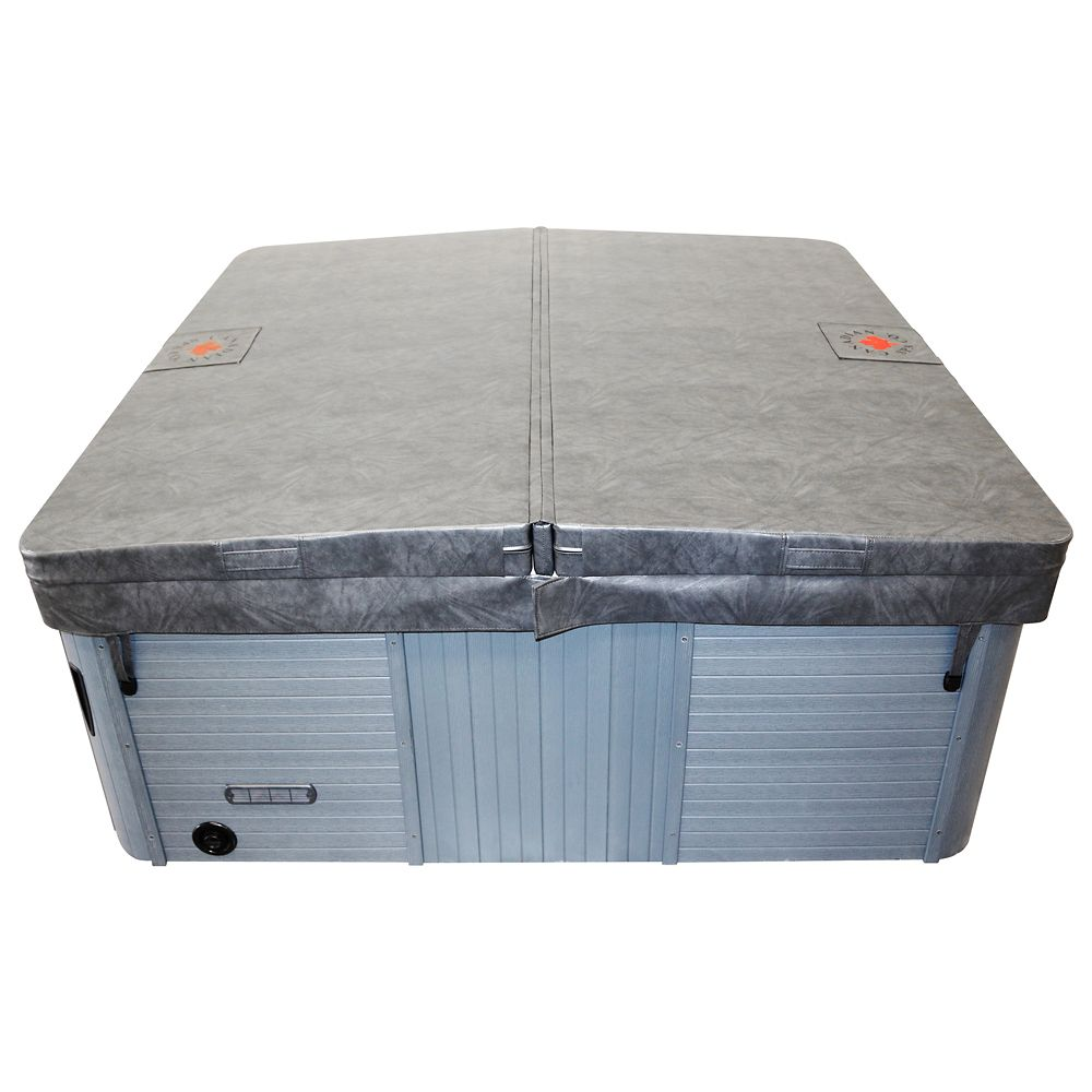 90 in x 90 in Square Hot Tub Cover with 5 in/3 in Taper - Grey