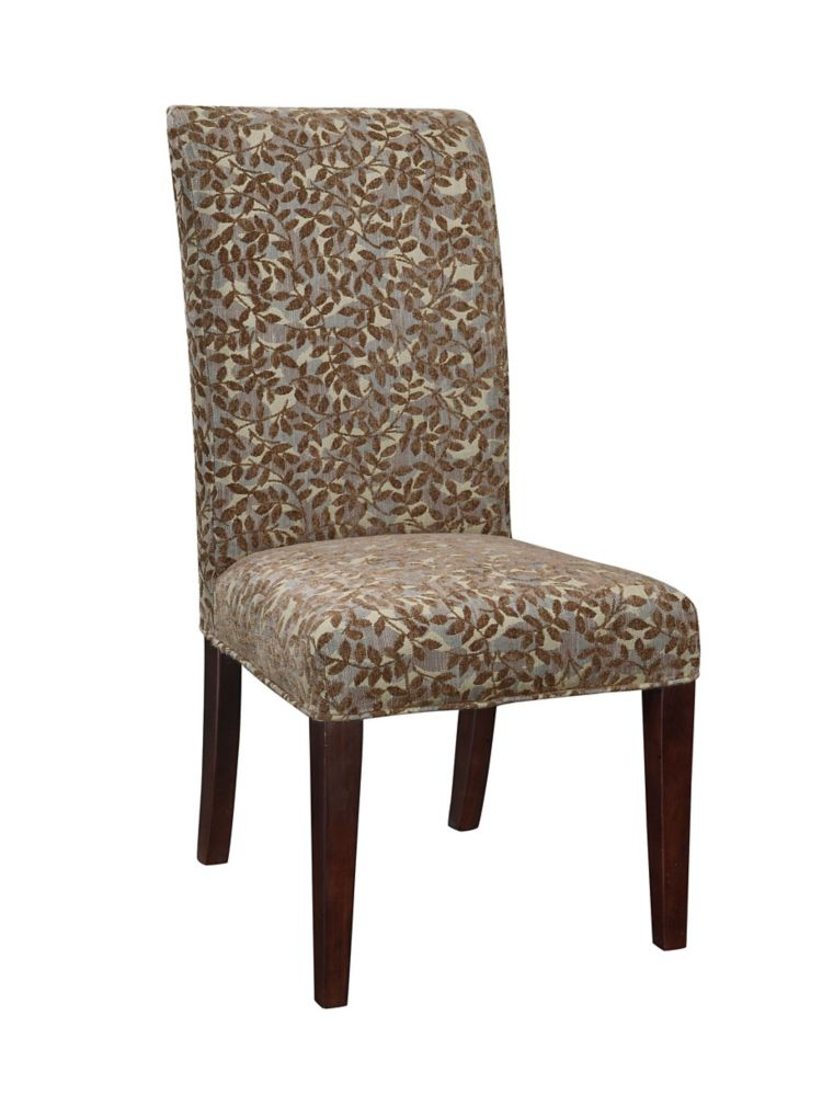 Blue Green, Red Tapestry with Raised Brown Chenille Leaves Slip Over - Pack 1 (Fits 741-440 Chair...