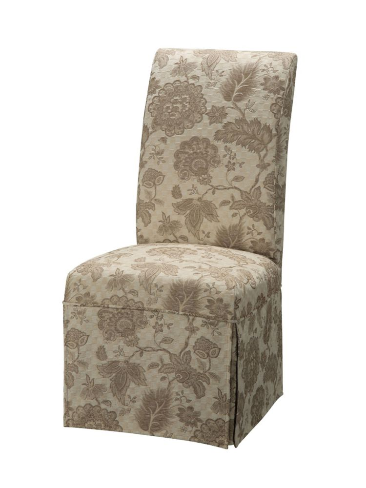 Woven Gold with Taupe Floral Pattern Skirted Slip Over - Pack 1 (Fits 741-440 Chair)
