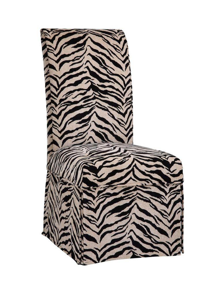 Housse longue à imprimé tigré blanc et onyx � paquet1 (sagence à la chaise 741-440)