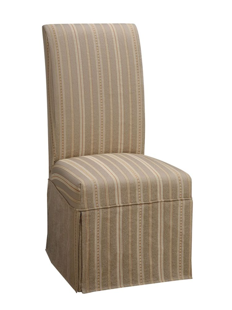 Woven Taupe with Copper ,Gold & White Stripes Skirted Slip Over - Pack 1 (Fits 741-440 Chair)