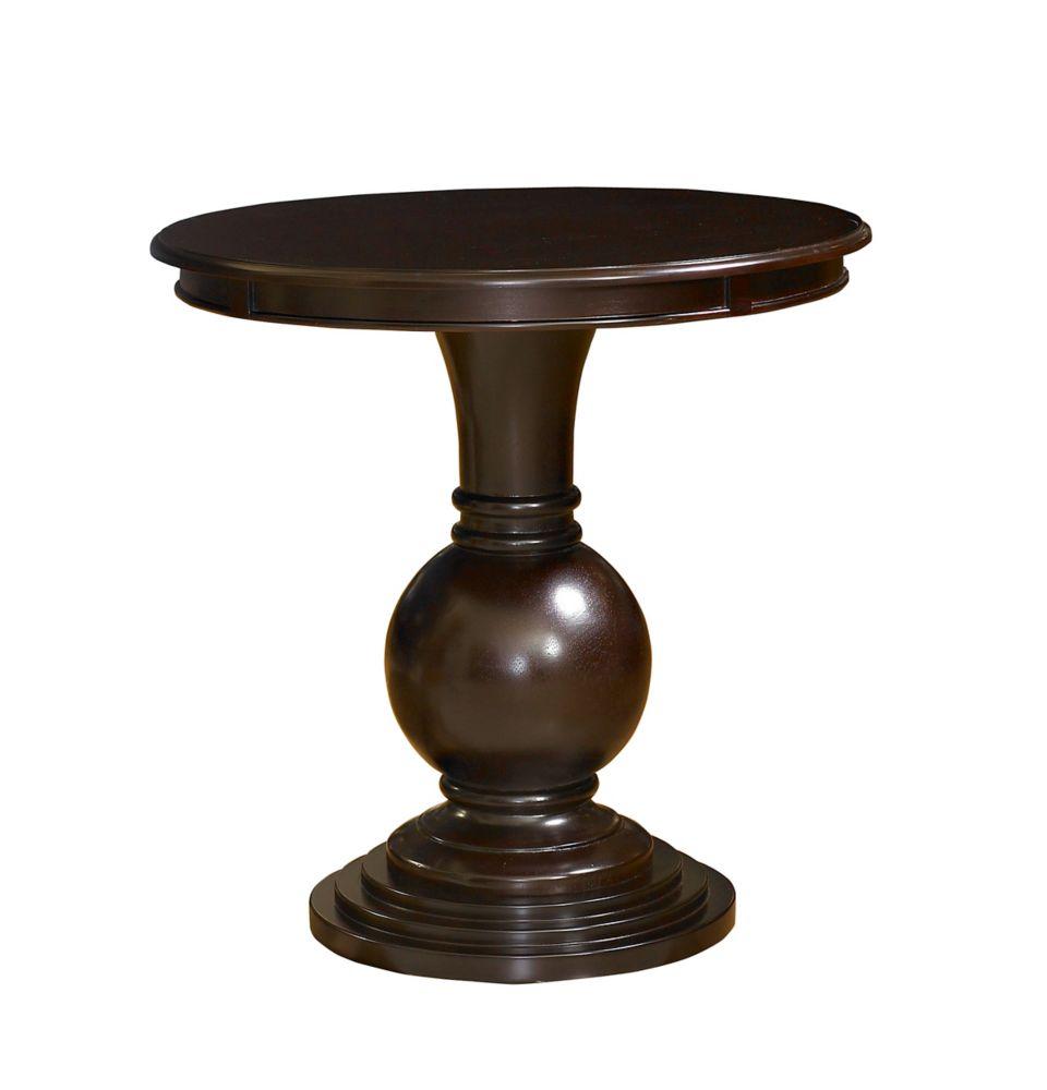 Espresso Round Accent Table