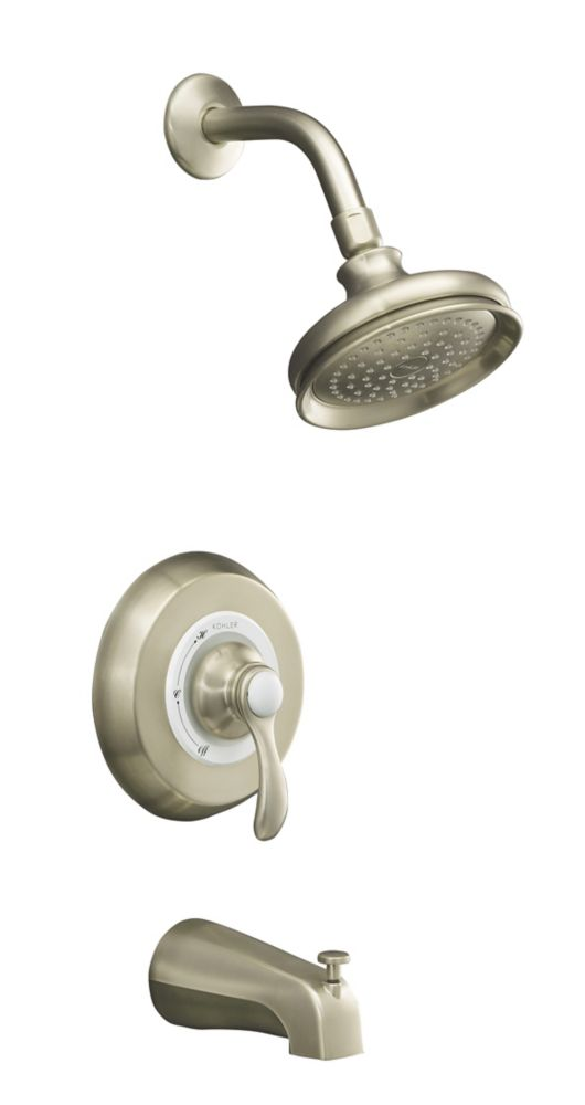 Fairfax Rite-Temp Pressure-Balancing Bath And Shower Faucet Trim, Valve Not Included In Vibrant Brushed Nickel K-T12007-4-BN in Canada