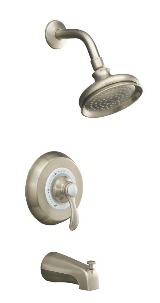 Fairfax Rite-Temp Pressure-Balancing Bath/Shower Faucet in Vibrant Brushed Nickel