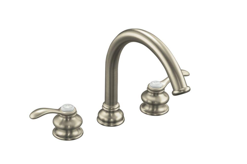 KOHLER Fairfax Deck-Mount Bath Faucet in Vibrant Brushed Nickel