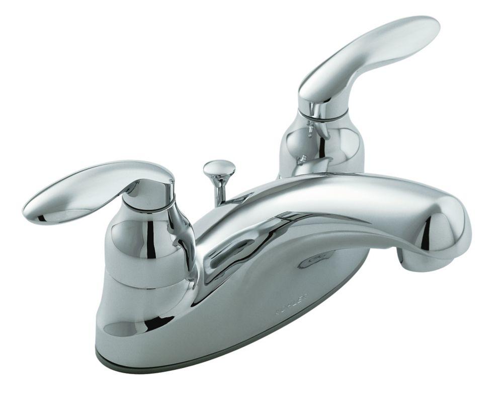 Robinet de lavabo à petit entraxe Coralais avec drain escamotable et poignées à levier