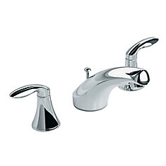Coralais Widespread Bathroom Faucet in Polished Chrome Finish