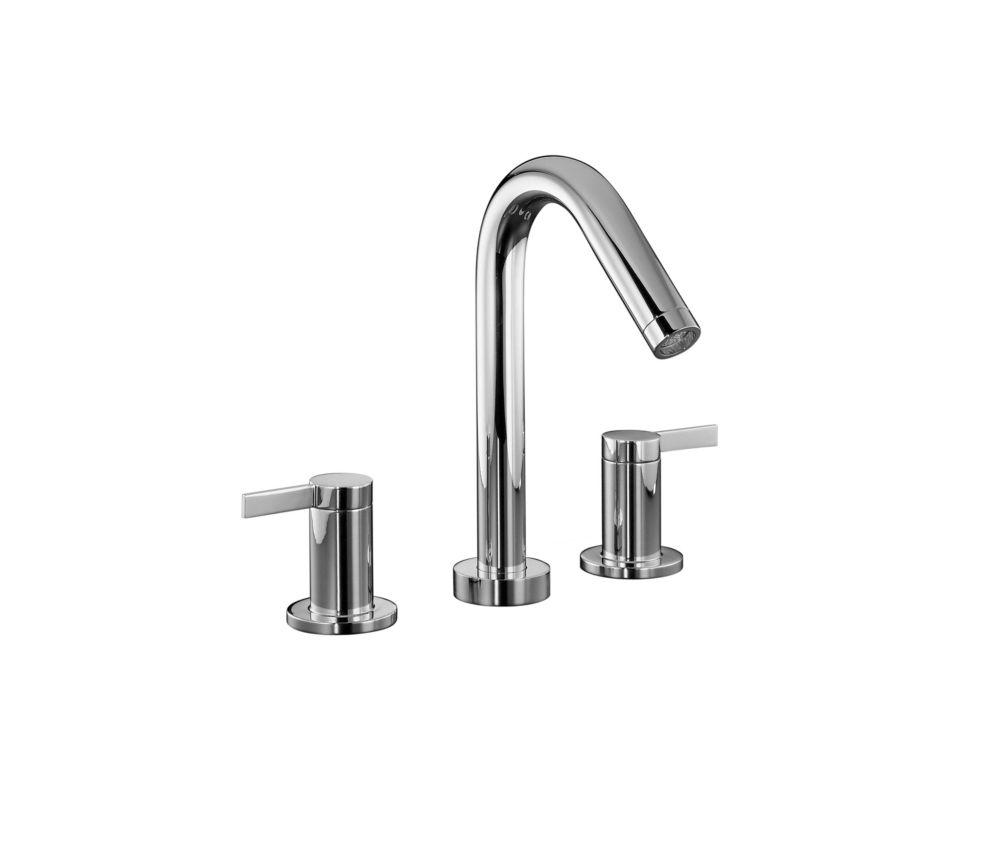 Stillness Deck-Mount High-Flow Bathroom Faucet in Polished Chrome Finish