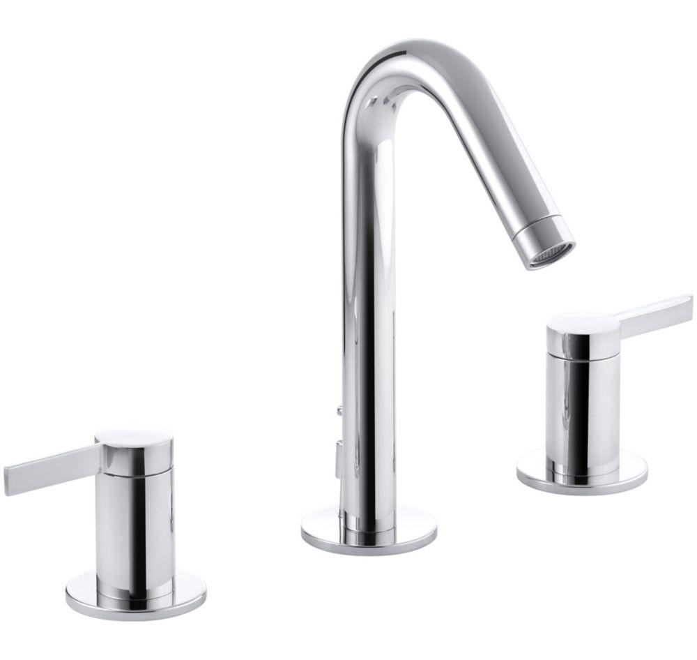 Kohler stillness widespread bathroom faucet in polished for Bathroom faucet finishes