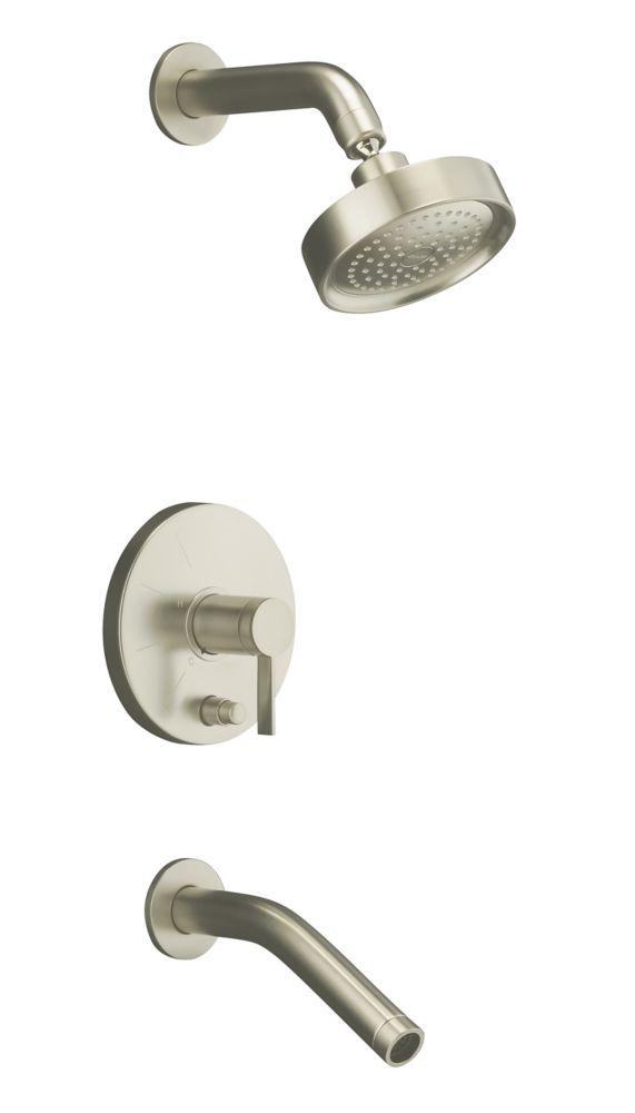Garniture de robinet de baignoire et de douche à régulation de pression Stillness Rite-Temp avec ...