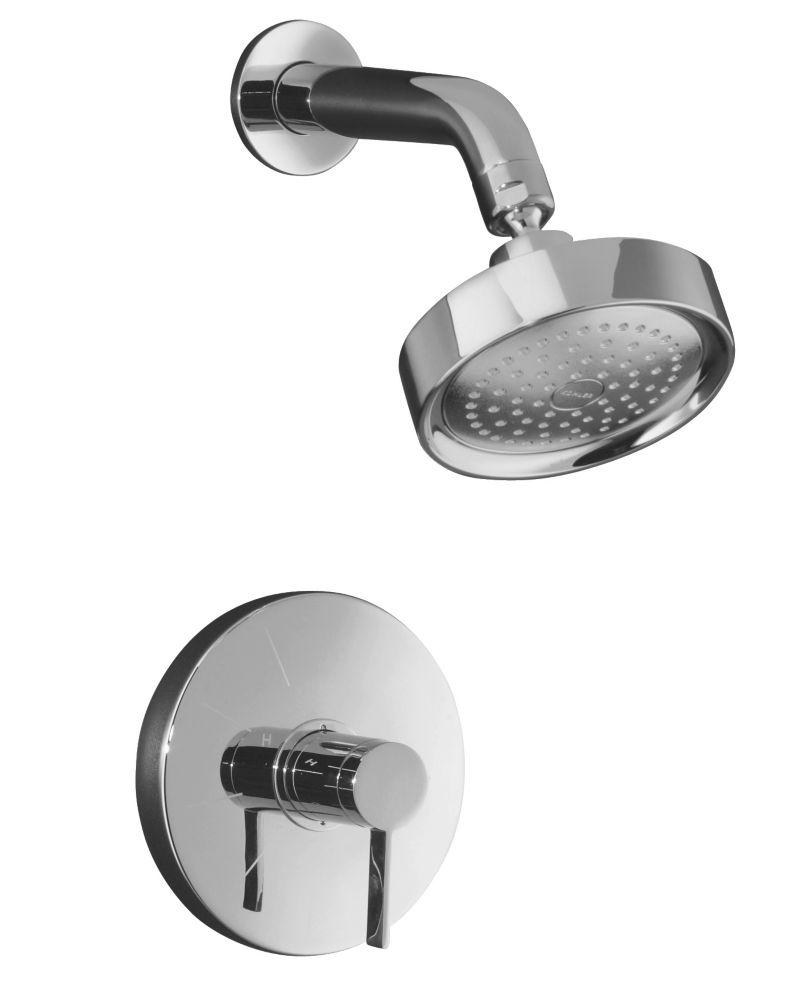 Garniture de robinet de douche à régulation de pression Stillness Rite-Temp avec poignée à levier