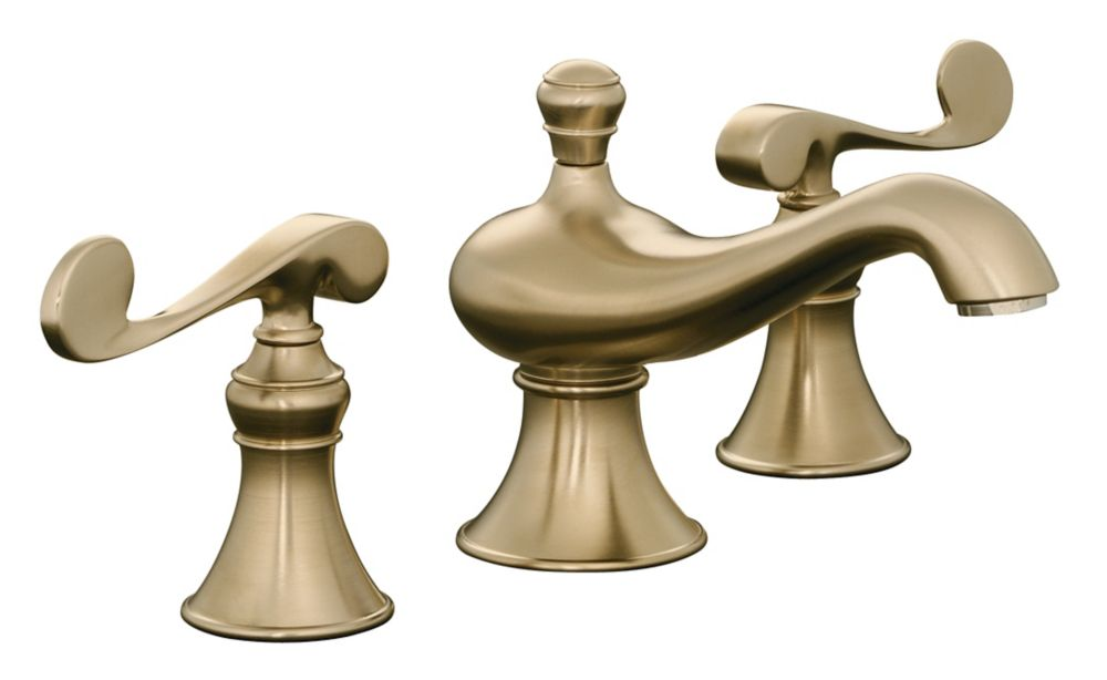 Revival Widespread Bathroom Faucet in Vibrant Brushed Bronze Finish