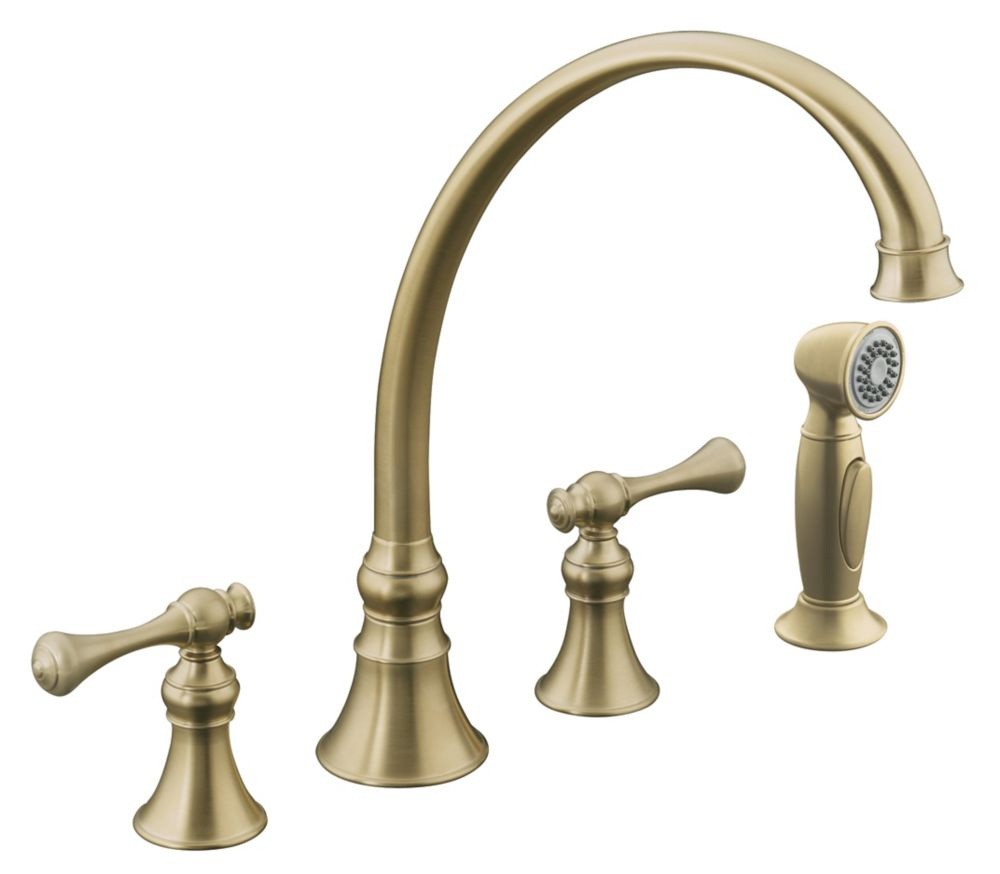 Revival Kitchen Sink Faucet In Vibrant Brushed Bronze