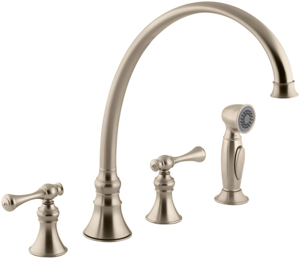Revival Kitchen Sink Faucet In Vibrant Brushed Bronze K-16111-4A-BV Canada Discount