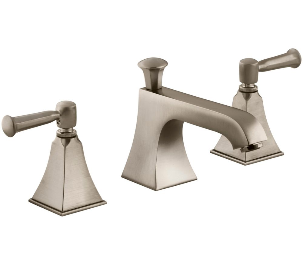 Kohler Memoirs Widespread Bathroom Faucet With Stately Design In Vibrant Brushed Bronze Finish