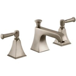 KOHLER Memoirs(R) Stately widespread bathroom sink faucet with lever handles