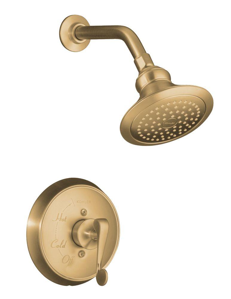 Garniture de robinet de douche régulateur de pression Revival Rite-Temp avec avec poignée à levie...
