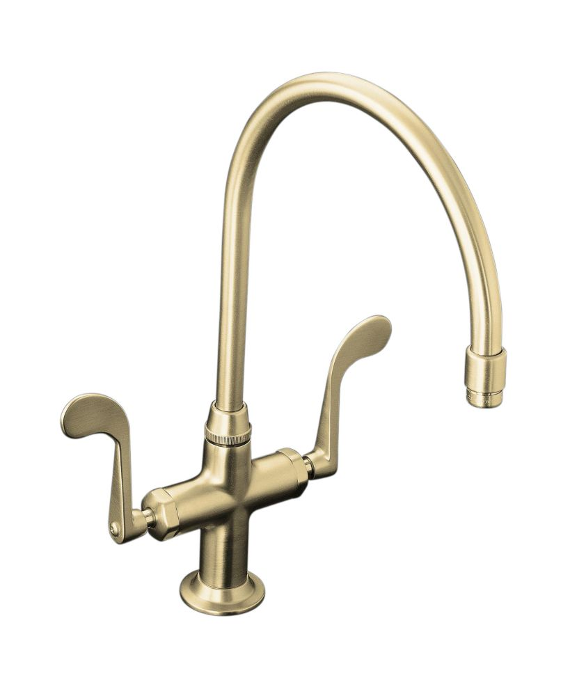 KOHLER Essex Two-Handle Sink Faucet In Vibrant Brushed Nickel