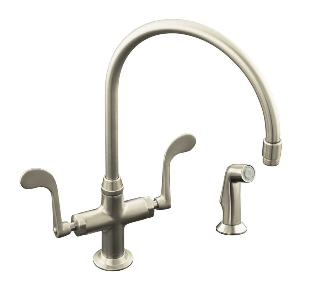 Essex Kitchen Sink Faucet In Vibrant Brushed Nickel